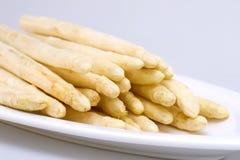 Asparagus white on a plate Stock Photos