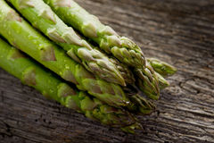 Asparagus on wood Royalty Free Stock Photo
