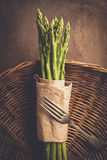 Asparagus on a wooden background Stock Image
