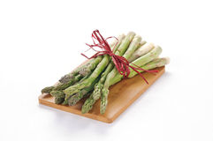 Asparagus on wooden board Royalty Free Stock Image