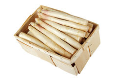 Asparagus in wooden box including clipping path Stock Photography