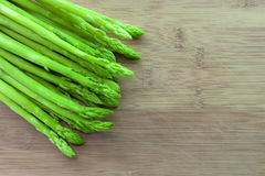 Asparagus on wooden Royalty Free Stock Image