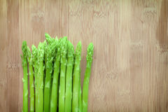 Asparagus on wooden Stock Photos