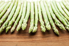 Asparagus  on the wooden table close-up Royalty Free Stock Image