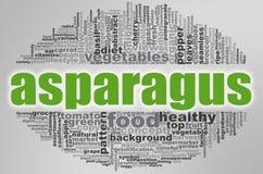 Asparagus word cloud Royalty Free Stock Photos