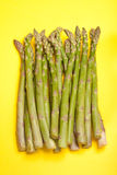 Asparagus on Yellow Stock Photos