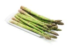 asparagusa talerz Zdjęcie Stock