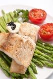 asparagusa zdrowy rybi zdjęcie royalty free