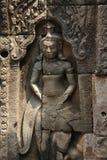 Asparas de Angkor no templo do bayon, cambodia fotografia de stock