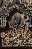 Asparas för wat för Khmerdansareangkor Arkivfoto