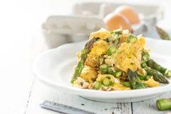 Aspargo com ovos Imagem de Stock