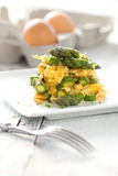 Aspargo com ovos Imagens de Stock