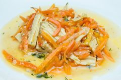 Aspargo e cenouras da soja fotos de stock royalty free