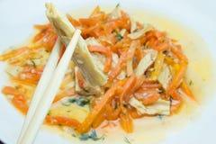Aspargo e cenouras da soja foto de stock royalty free