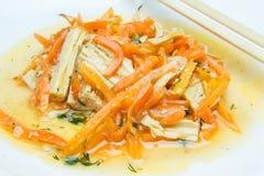 Aspargo e cenouras da soja fotografia de stock royalty free