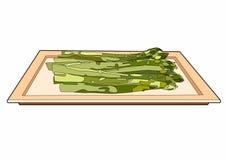 Aspargo em um prato Imagens de Stock Royalty Free