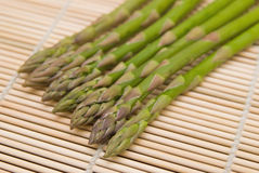 Aspargus on bamboo substrate Royalty Free Stock Image