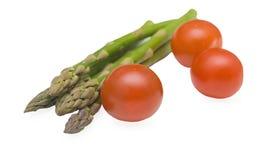 Aspargus and tamatos Stock Images