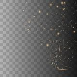 Vector sparkles on transparent background. royalty free illustration