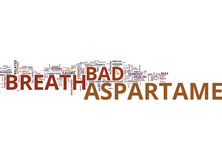 Aspartame And Bad Breath Word Cloud Concept Royalty Free Stock Photo