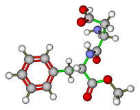 Aspartame molecular model Royalty Free Stock Photography