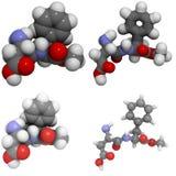 Aspartame molecule. A molecule of aspartame, a popular sweetener Stock Image