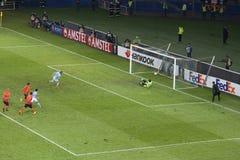 Aspas Celta de Vigo  pen forces extra time Stock Images