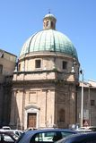Apse of Romanic church in Ancona, Marche, Italy. Aspe with bronze dome of Romanic church in Ancona downtown, Italy Royalty Free Stock Photos