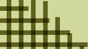 Aspect animé d'une grille, cage, mâche des places colorées Animation de la ligne 4K géométrique abstraite animée sans couture illustration de vecteur