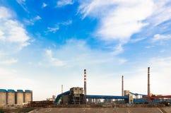 Aspect d'usine sidérurgique de fer et Image libre de droits