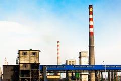 Aspect d'usine sidérurgique de fer et Images libres de droits