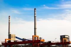 Aspect d'usine sidérurgique de fer et Images stock