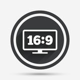 Aspect ratio 16:9 widescreen tv. Monitor symbol. Stock Photography