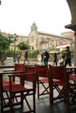 Aspecto chuvoso da Espanha em Pontevedra imagem de stock