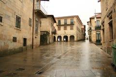 Aspecto chuvoso da Espanha em Pontevedra fotos de stock