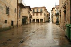 Aspecto chuvoso da Espanha em Pontevedra imagem de stock royalty free