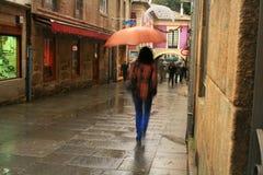 Aspecto da intimidade das ruas estreitas em Pontevedra, Espanha imagens de stock royalty free