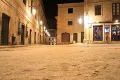 Aspecto da noite da Espanha em um quadrado de Pontevedra fotos de stock royalty free