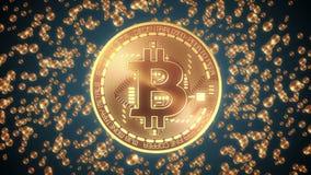 Aspecto de Bitcoin stock de ilustración