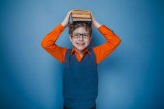 Aspecto europeo del adolescente del muchacho en pelo marrón Fotografía de archivo libre de regalías