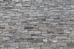 Aspecto horizontal de una pared de piedra fotos de archivo libres de regalías