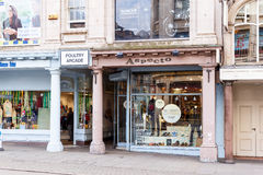 Aspecto mens' clothing store, Nottingham, England. Royalty Free Stock Images