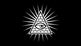 aspecto Todo el ojo que ve Albañiles de la muestra Fondo negro Alpha Channel libre illustration