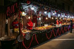 Aspects from the Christmas fair, Timisoara, Romania. TIMISOARA, ROMANIA - DECEMBER 14, 2016: Aspects from the Christmas fair  with traditional products and Stock Photos