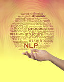 Aspects of Neuro Linguistic Programming NLP word cloud - Royalty Free Stock Photography