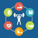 Aspects of weightlifting Royalty Free Stock Image