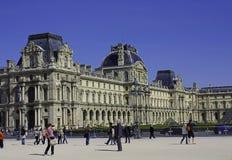 Aspekt av Louvre fotografering för bildbyråer