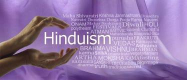 Aspekte der göttlichen Hinduismus-Wort-Umbau-Wolke stockfotos