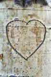 Aspen Bark Heart Royalty Free Stock Images