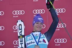 Aspen, CO - 27 de noviembre: Maria Hoefl-Riesch i post-race Fotografía de archivo